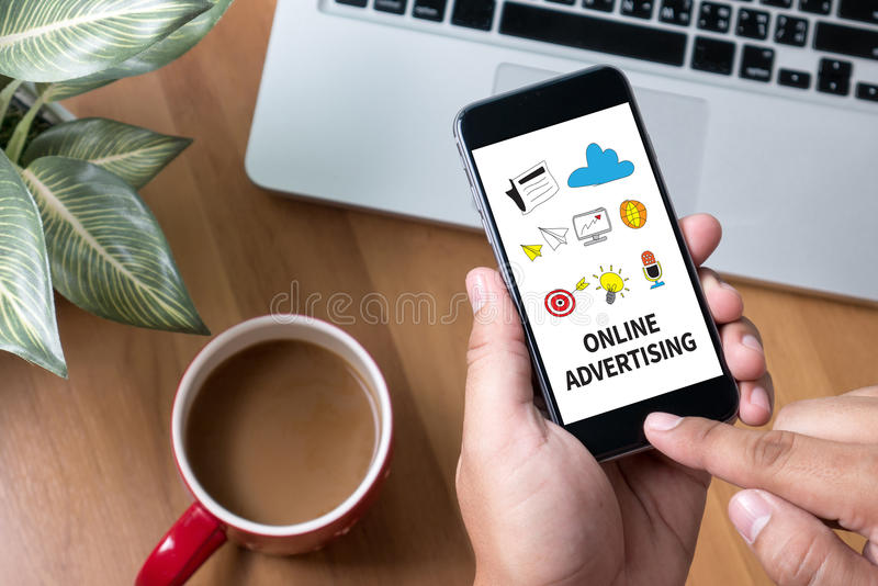 ONLINE ADVERTISING royalty free stock photos