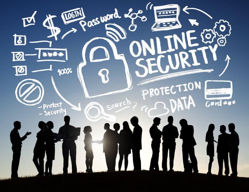 Online-affär Communicatio för säkerhet för internet för säkerhetsskydd arkivfoton