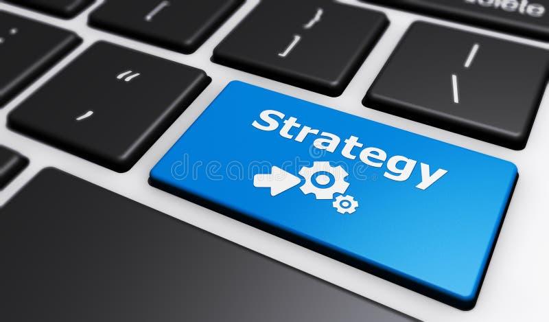 Online-affärsstrategi stock illustrationer