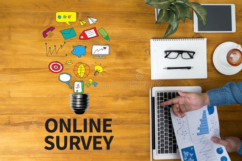 Online ankieta obraz royalty free