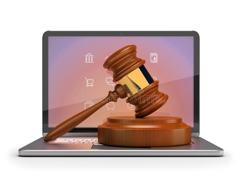 Online-auktion stock illustrationer