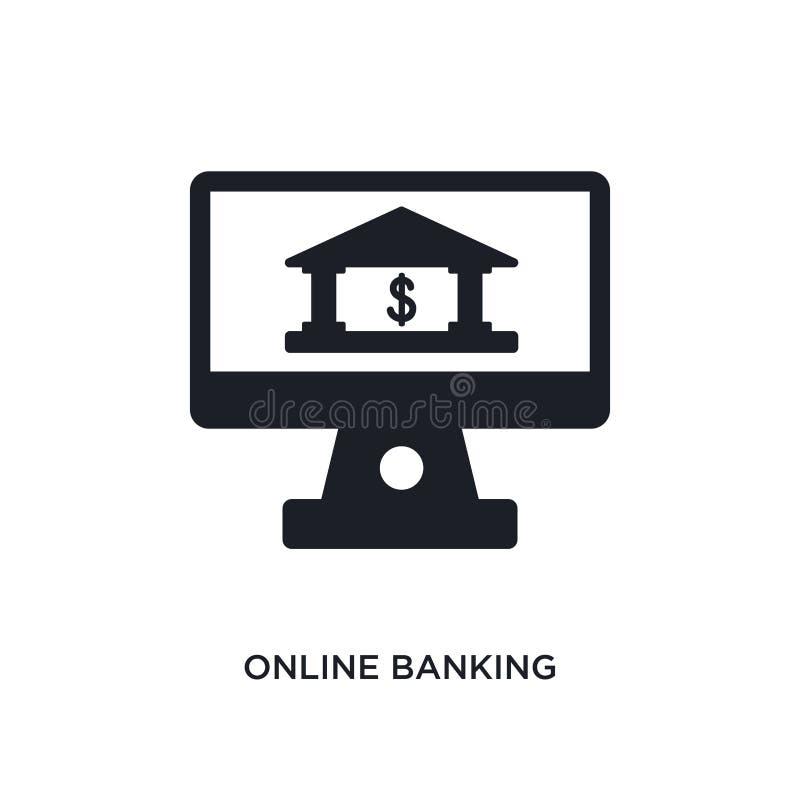 online bankieren geïsoleerd pictogram eenvoudige elementenillustratie van de pictogrammen van het betalingsconcept het tekensymbo stock illustratie