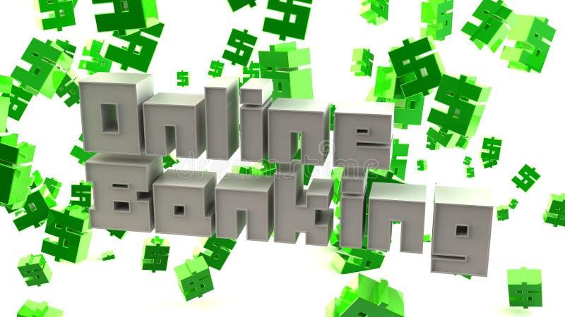 Download Online Banking stock illustration. Illustration of words - 14147569