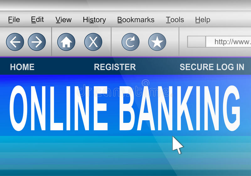 Download Online banking. stock illustration. Image of account - 24042279