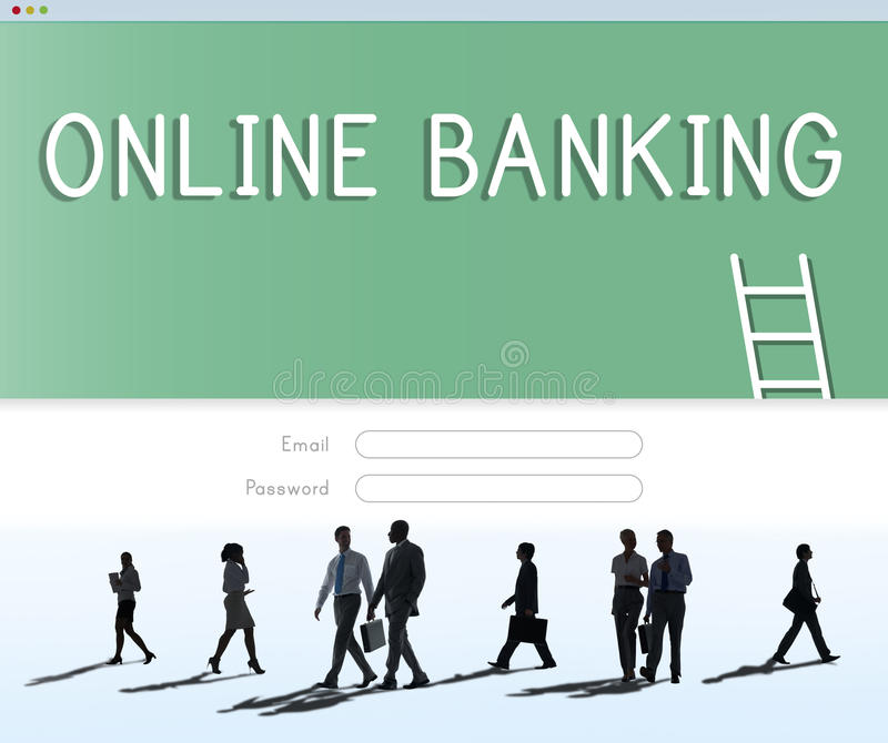 Online Banking Accounting Financial Concept. Online Banking Accounting Financial Management royalty free stock images