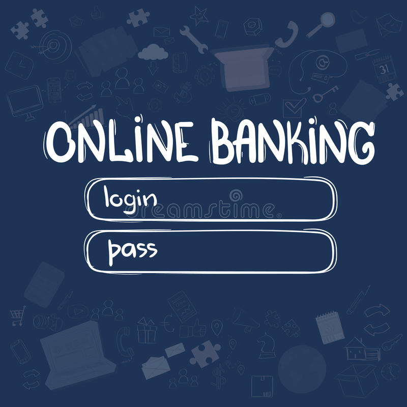 Online Banking Application Interface Concept Doodle Hand Draw Sketch ...