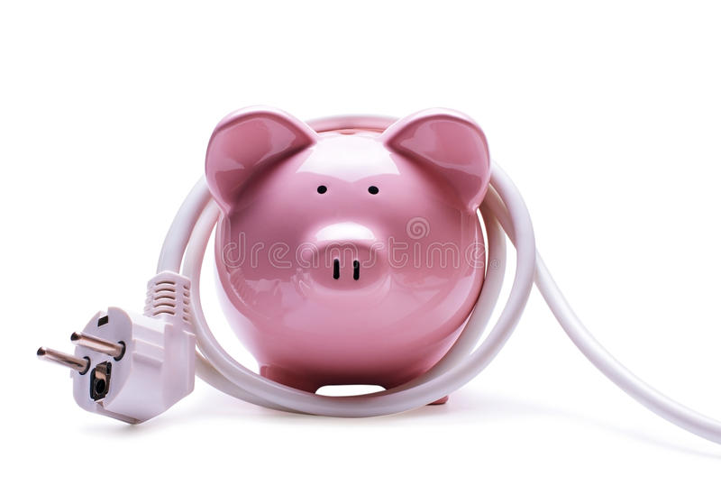 Online banking and savings concept stock photography