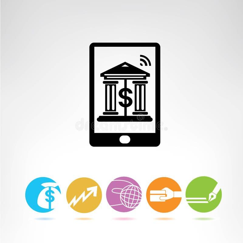 Online bankowość royalty ilustracja
