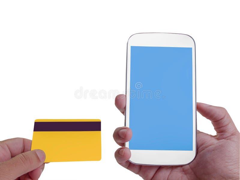 Online bankowość na ekranie z smartphone Ścinek ścieżka zdjęcia stock