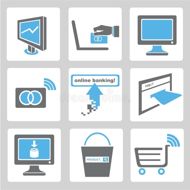 Online bankowości ikony ilustracji