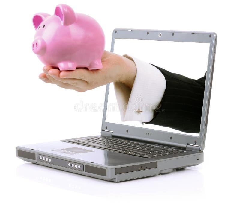 Online-bankrörelsen royaltyfri bild