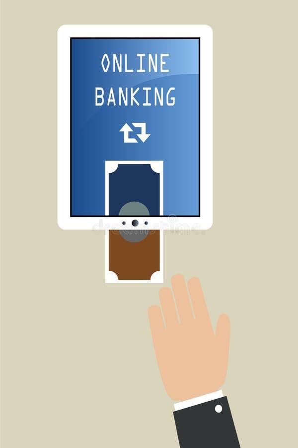 Online bankwezen vector illustratie