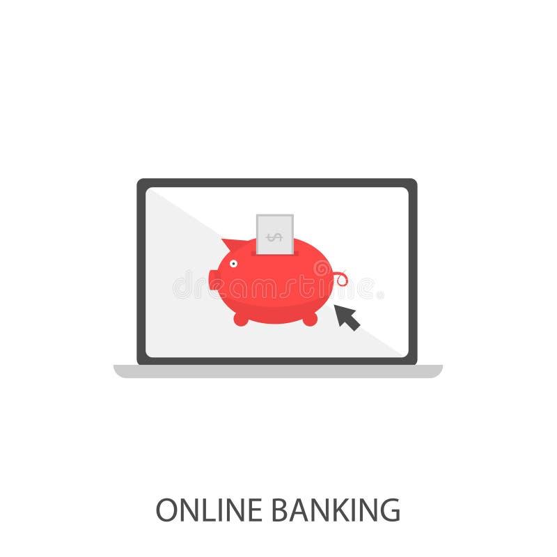 Online bankwezen vectorpictogram vector illustratie