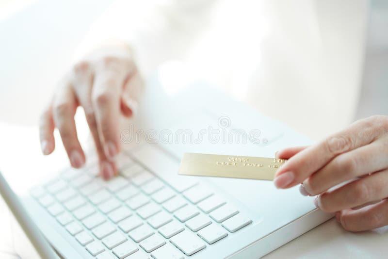 Online betaling royalty-vrije stock foto