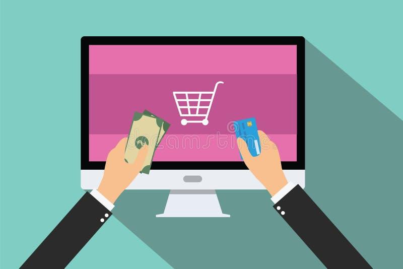Online betaling stock illustratie