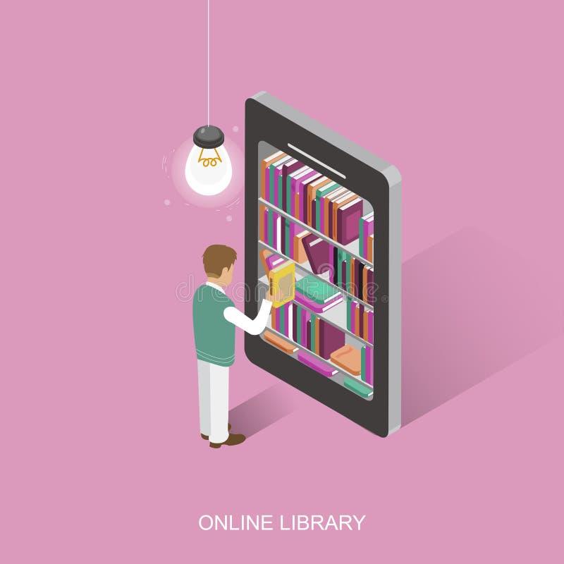 Online bibliotheek vector illustratie
