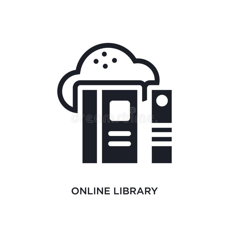 online bibliotheek geïsoleerd pictogram eenvoudige elementenillustratie van e-lerend en onderwijs conceptenpictogrammen online ed royalty-vrije illustratie