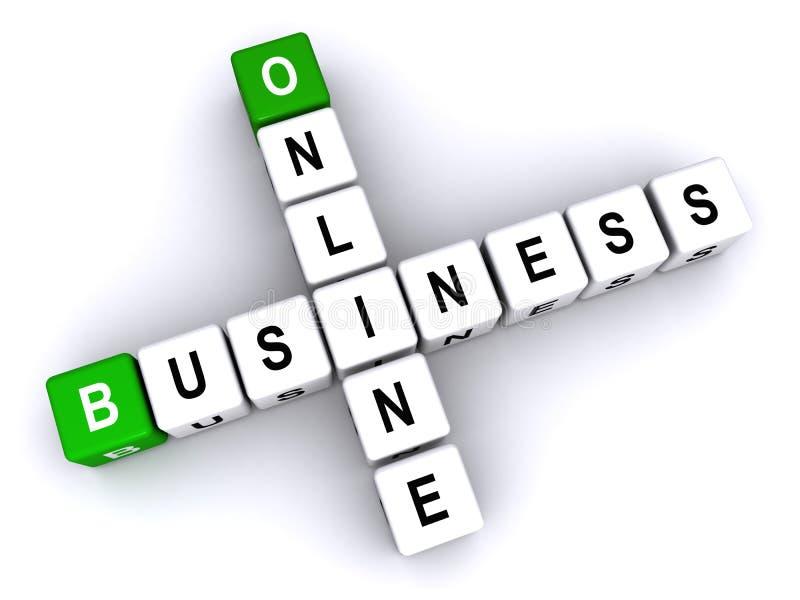 Online biznes royalty ilustracja