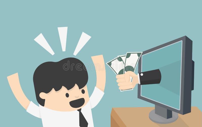Online biznes ilustracja wektor