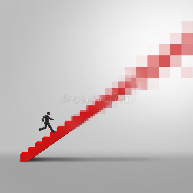 Online Biznesowa ścieżka ilustracja wektor