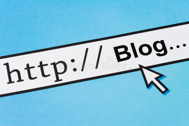 Online blog royalty free stock images