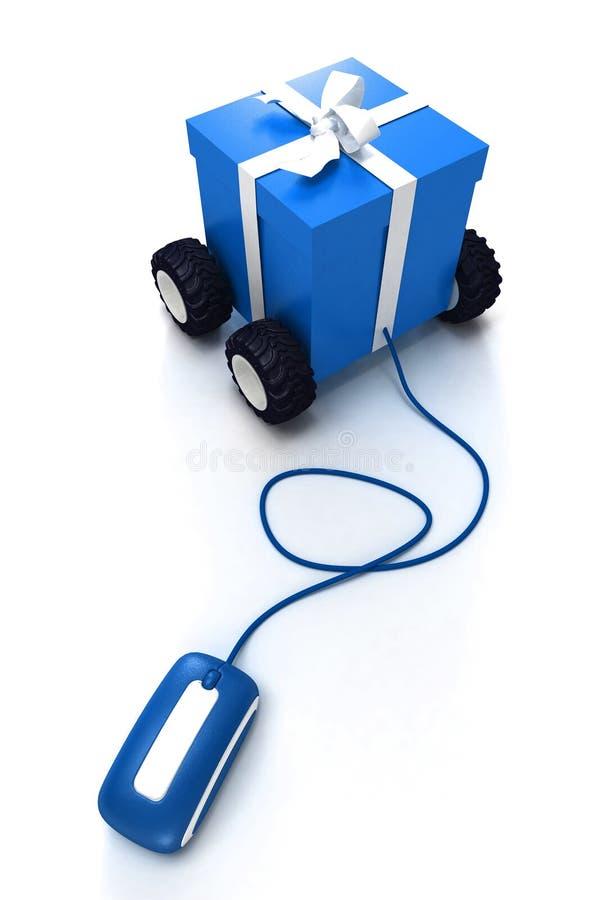 Online blue Christmas shopping