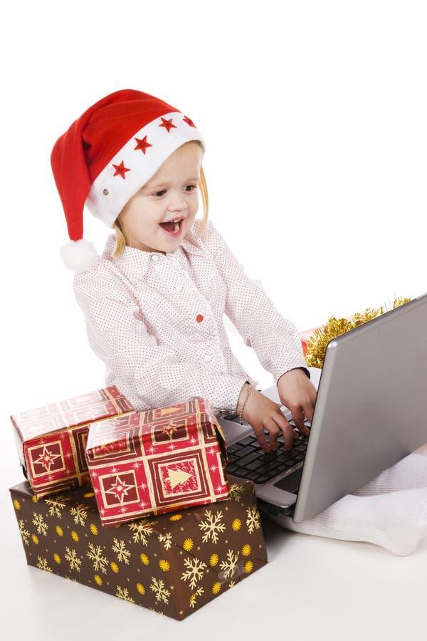 online Boże Narodzenie zakupy obraz royalty free