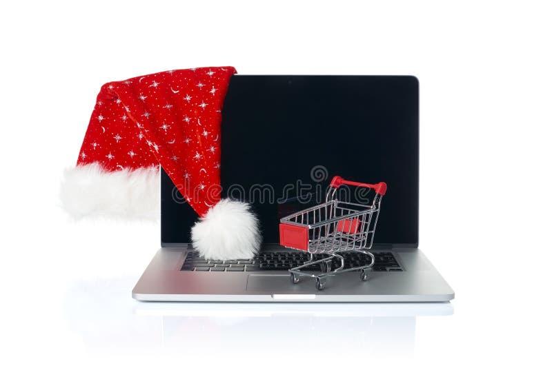 Online Bożenarodzeniowy zakupy fotografia royalty free