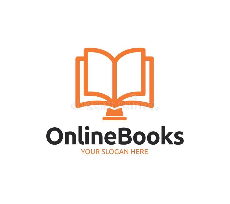 Online Boekembleem vector illustratie