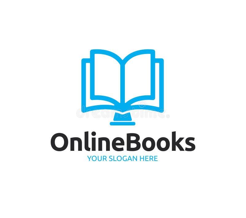 Online Boekenembleem stock illustratie