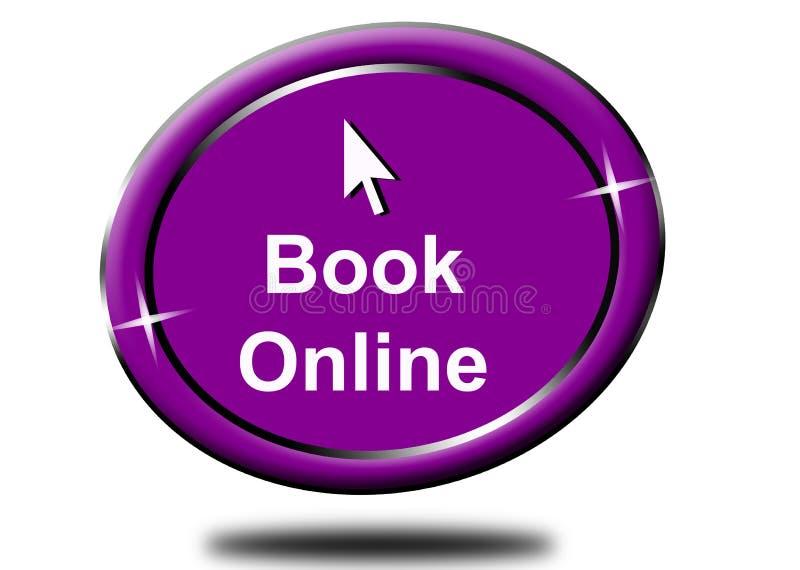 Online-boka klick för abstrakt färg för runda violett stock illustrationer