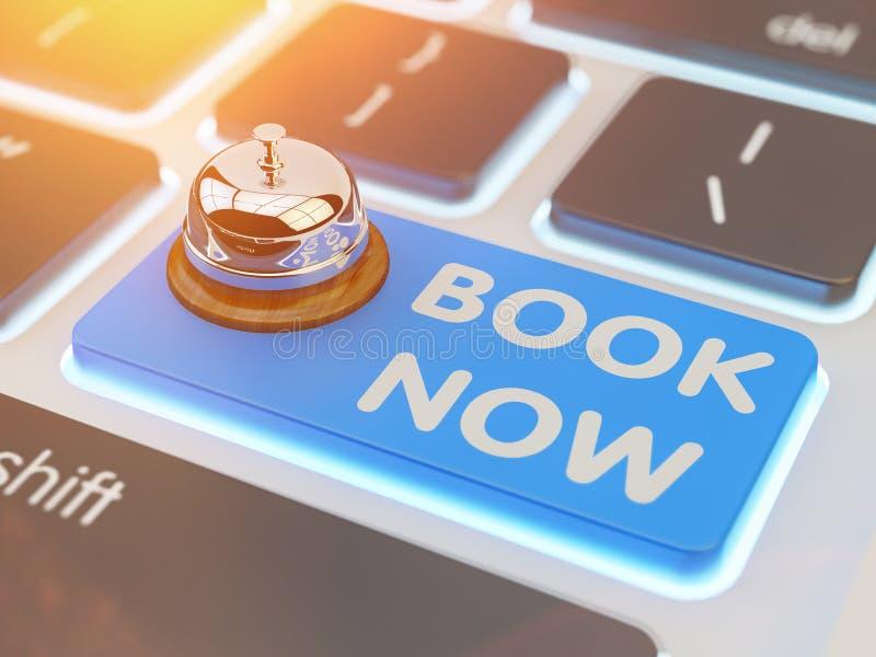 Online-bokning, internetreservation, beställa och reservbegrepp stock illustrationer