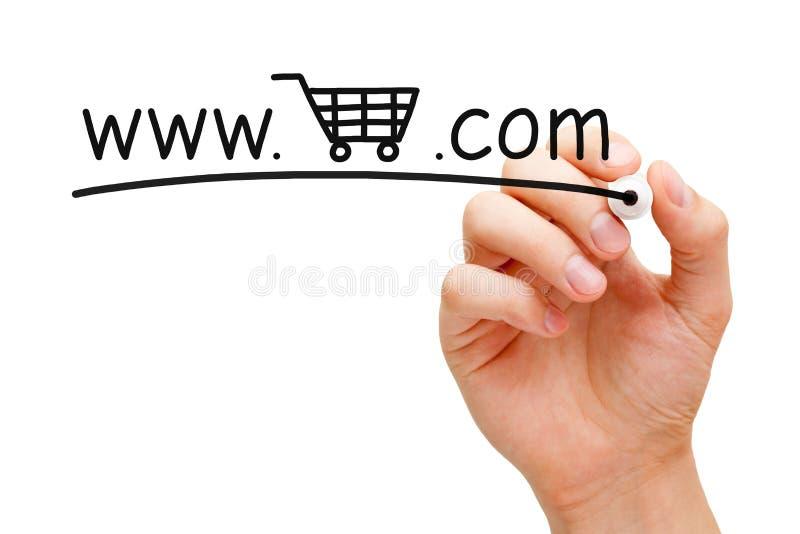 Online Boodschappenwagentjeconcept stock afbeelding