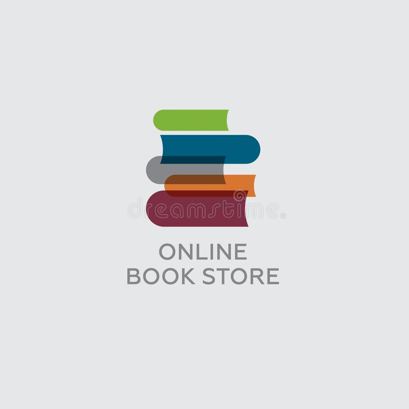 Online Book Store. Digital Library. Colorful Books On A Light ...
