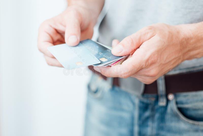 Online borrow van de creditcardlening royalty-vrije stock foto