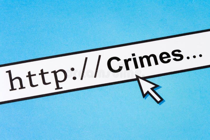 Online-brottbegrepp arkivbilder