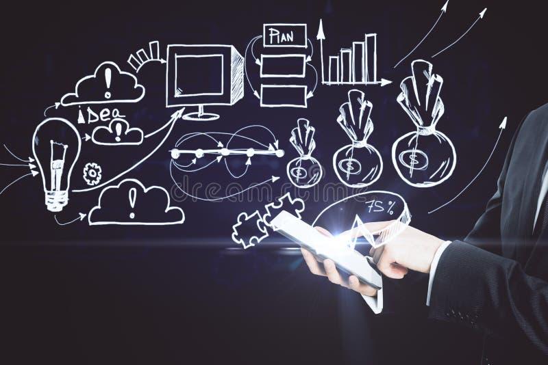 Online business concept stock illustration
