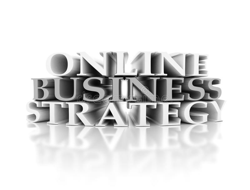 Online business strategy stock image