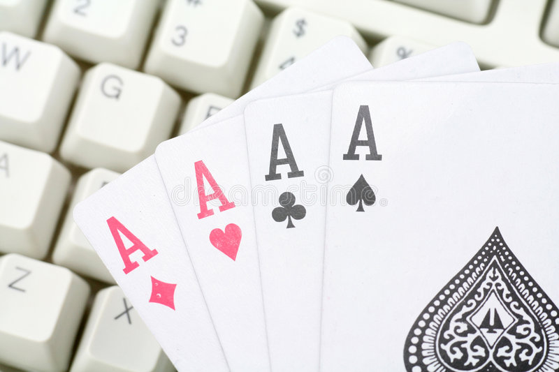 Download Online card games stock photo. Image of internet, keyboard - 1737636