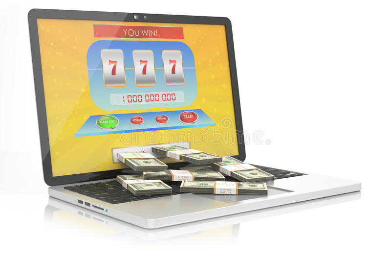 Online casino concept stock illustration