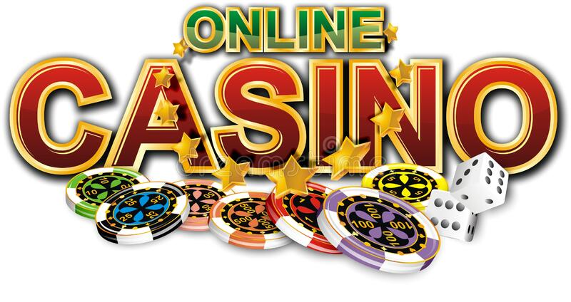 Online Casino Sticker. With The Image Of Dice And Chips. There Is An  Additional PNG Format. Stock Image - Illustration of cyber, cards: 202269141