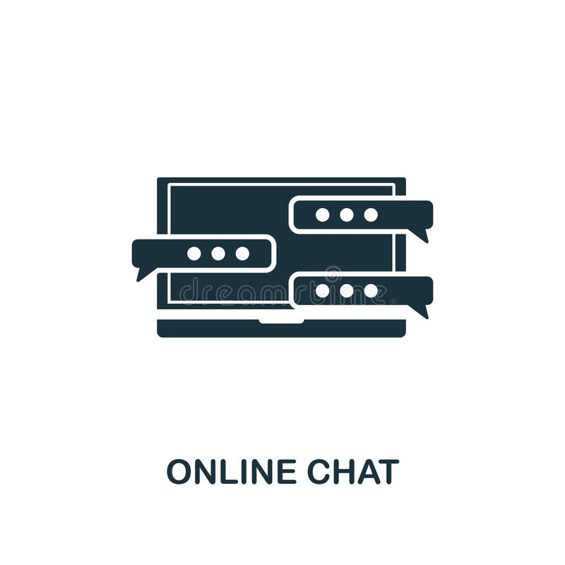 Online Chat creative icon. Simple element illustration. Online Chat concept symbol design from contact us collection. Perfect for vector illustration