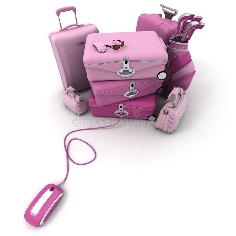Online check-in in pink