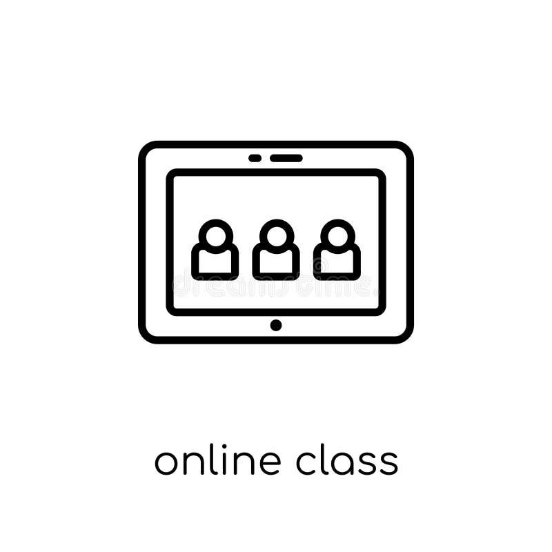 Online class icon. Trendy modern flat linear vector Online class vector illustration
