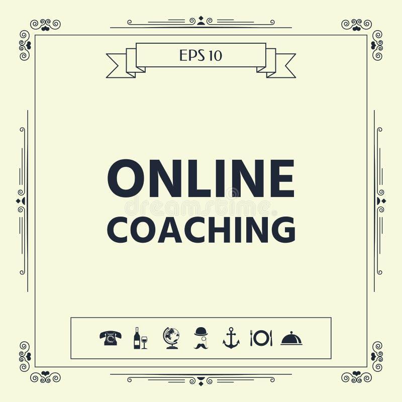 Online-coachningsymbol vektor illustrationer