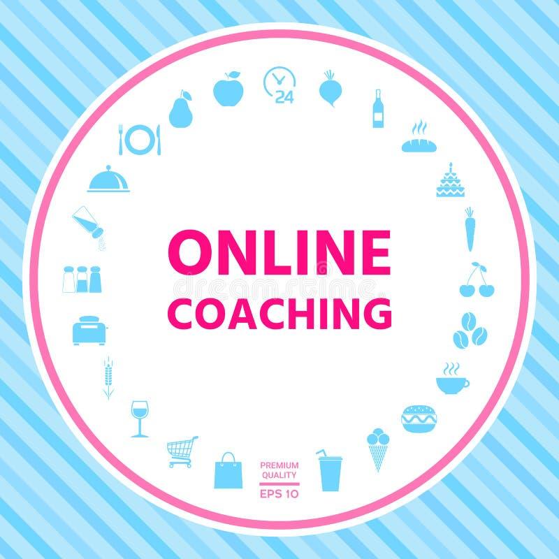 Online-coachningsymbol royaltyfri illustrationer