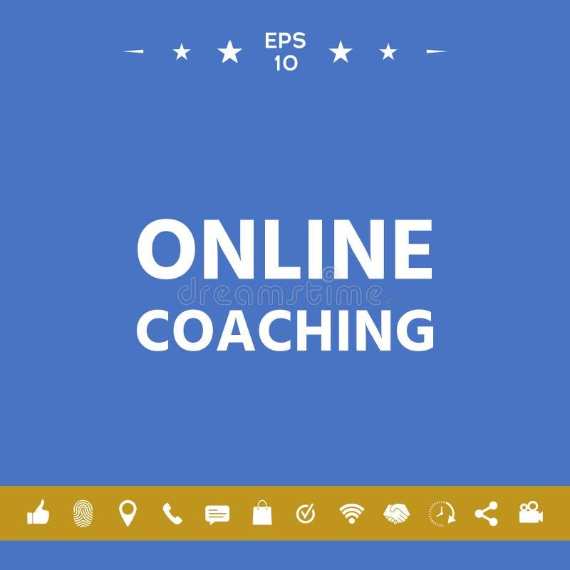 Online-coachningsymbol stock illustrationer