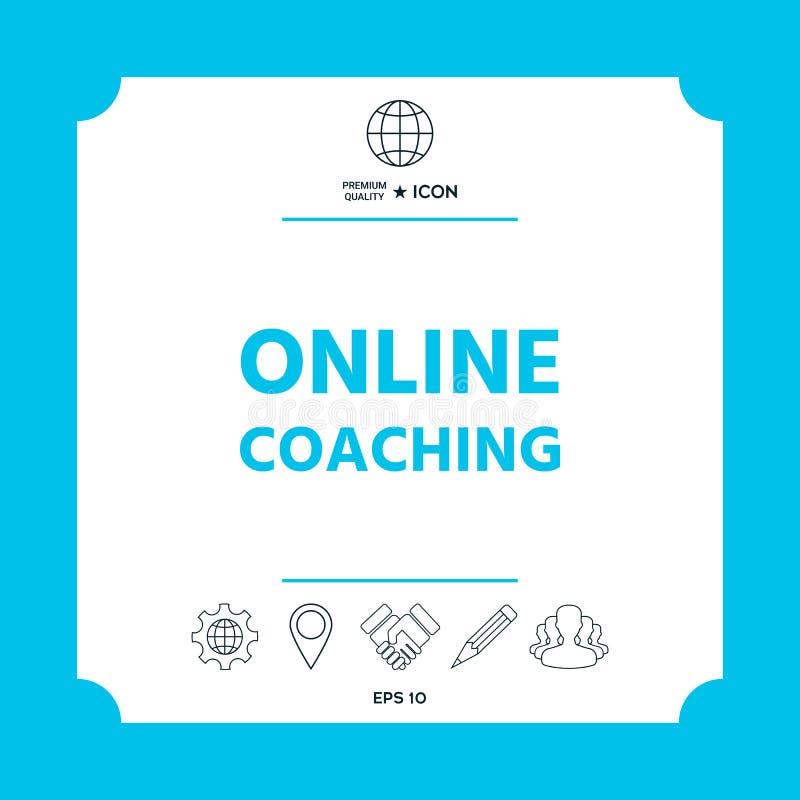 Online-coachningsymbolssymbol royaltyfri illustrationer