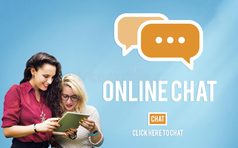 Online Communication Chat Conversation Global Concept stock images
