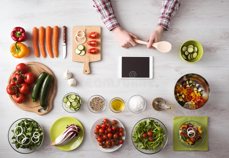 Online cooking app with kitchen worktop stock photo image of download online cooking app with kitchen worktop stock photo image of kitchen meal forumfinder Choice Image